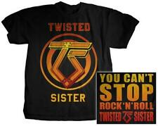 OFFICIAL LICENSED - TWISTED SISTER - YOU CAN'T STOP ROCK N ROLL T SHIRT SNYDER