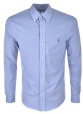 Ralph Lauren Blue Oxford Knit Shirt.