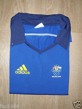 Australia Pechino 2008 Adidas Donna Scollo V Colletto T-Shirt Top Blu M Nuovo