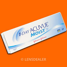 •• 1 Day Acuvue Moist 30er Box Johnson Kontaktlinsen Tageslinsen -/+ Werte ••