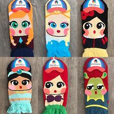 Disney Princess Cartoon Characters Girls Womens Ladies Frilly Novelty Socks