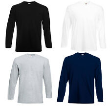4er Fruit of The Loom Longsleeve Herren Langarm Shirt S-M-L-XL-XXL