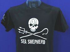 New to eBay Unisex Sea Shepherd Jolly Roger Front large Logo Black T-shirt