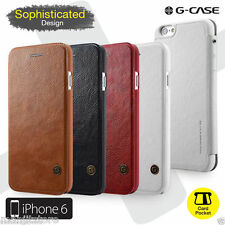 G-Case & Lenuo iPhone 6,6 Plus Luxury Real Leather Flip Cover Wallet Case Cover