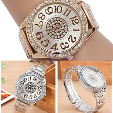 Women Crystal Analog Quartz Stainless Steel Band Bracelet Wrist Watch Beauteous