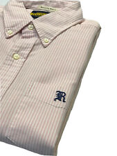 Rugby By Ralph Lauren Pink Stripe Shirt-university Oxford