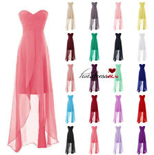 Cheap STOCK Long Formal Evening Wedding Bridesmaid Dresses Prom Party Ball Gowns