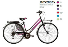 "BICICLETTA TREKKING CITY BIKE 28"" DONNA CAMBIO SHIMANO 6V MOV28D6V MADE IN ITALY"