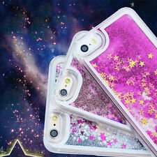 Hot New Glitter Stars Water fall Liquid Hard Case Cover For iPhone 7 bling wow