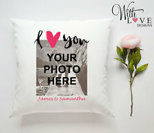 I LOVE YOU PHOTO PERSONALISED PILLOW CUSHION VALENTINES DAY WEDDING PRESENT GIFT