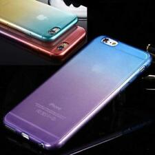Colorful Silicone/Gel/TPU Soft Case Cover For iPhone 7 6 5 5S 5C TEMPERED GLASS
