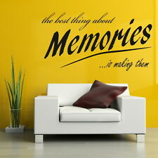 BEST THING ABOUT MEMORIES decal walldfg art sticker quote transfer graphic DAQ10