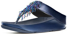 FitFlop 336-128 Women's Sapphire Cha Cha Thong Sandals - New With Box