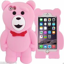 Teddy Bear Silicone Rubber Gel Soft Case For iPhone 6, 7, or any 4.7 inch phone