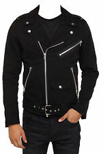 Men Motorcycle Gothic Military Jacket Goth Band RIP Moto Biker Punk Coat Jacket
