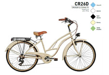 "BICICLETTA BICI CRUISER CITY PASSEGGIO 26"" DONNA CAMBIO 7V - CR26D MADE IN ITALY"