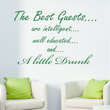 THE BEST GUESTS decal wall art sticker quote transfer graphic DAQ6