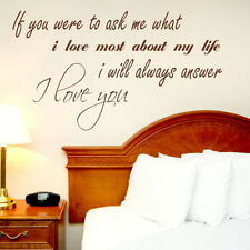 If You Asked Me Romantic Wall Quote Large Vinyl Love Quote Transfer DAQ9