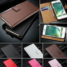 Genuine Real Leather Magnetic Flip Cover Wallet Case For iPhone 6s 6 7 Plus 5 5C