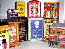 COLLECTOR's TINS - COFFEE & HOUSEHOLD 1960/2000 - click SELECT to browse / order