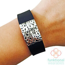 SILVER CROSS Charm to Enhance & Protect Fitbit or Other Fitness Activity Tracker