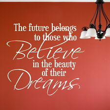 FUTURE BELIEVE BEAUTY DREAMS decal wall art sticker quote transfer graphic DAQ41