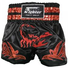 4Fighter Muay Thai Shorts / Kick Thaibox Hose Scorpion schwarz gold rot XXS - XX
