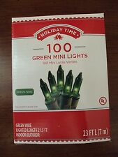 New Box/Set 100 Count Green Mini Christmas String Lights Green Wire Tree 21.6ft