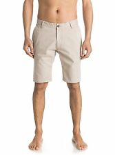 """QUIKSILVER MENS SHORTS.EVERYDAY 21"""" CHINO TAUPE COTTON WALK BOTTOMS 7S/3252/THZO"""