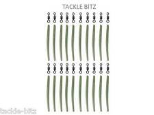 Green 35mm Anti Tangle Sleeves + Carp Fishing Tackle Size 8 swivels  Hair Rigs