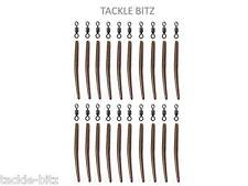 Brown 35mm Anti Tangle Sleeves + Carp Fishing Tackle Size 8 swivels  Hair Rigs