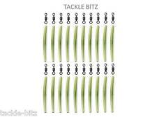 Trans Green 35mm Anti Tangle Sleeves + Carp Fishing Tackle Size 8 swivels Rigs