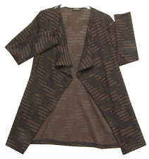 Pomodoro Cardigan 11656, Brown and Black Long Sleeves Waterfall Front was £69.95