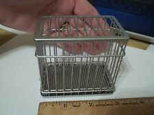 DOG KENNEL / CAGE   - GALVANIZED METAL -  DOLL HOUSE MINIATURE