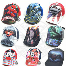 Cool COMIC Enfants Casquette De Baseball Cap Spiderman Batman Superman Star Wars