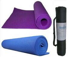 Yoga Mat Gym Exercise Fitness Physio Pilates Soft Non Slip Mats With Carry Bag