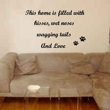 Dog wall sticker art decal transfer pet grooming quote paw Prints Vinyl Quote