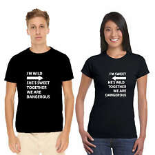 Giftsmate Sweet Wild Dangerous Couple Tshirts for Men & Women_Cotton, Love Gifts