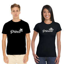 Giftsmate Prince Princess Couple TShirts for Men and Women_Cotton, Love Gifts