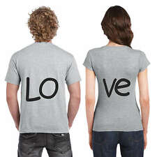 Love Couple Tshirts for Men and Women Set of 2 by Giftsmate