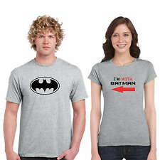 Giftsmate I am With Batman Couple Tshirts for Men and Women_Cotton, Love Gifts