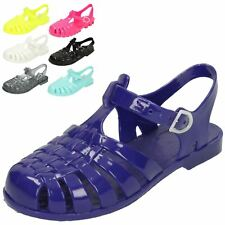 Girls Spot On Closed-Toe Flat Jelly Sandals The Style H2309 - D