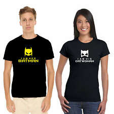 Giftsmate Batman and Catwoman Couple Tshirts for Men & Women_Cotton, Love Gifts
