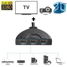 3 Port HDMI Switcher Spliter Gold Plated Connecter 1080p FULL HD 4 LCD HDTV Xbox