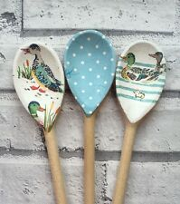 Decoupage Wooden Spoons using Cath Kidston designs;shabby chic,homeware,ducks