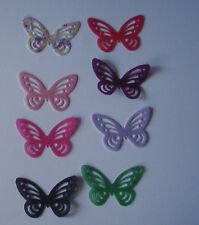 36 Precut Edible wafer/rice paper butterflies cake/cupcake toppers 17 colours
