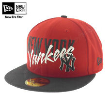 "NEW ERA Sombrero 59FIFTY Cap ""Wordfront"" YANKEES Gorra HAT Red NUEVO York NY"