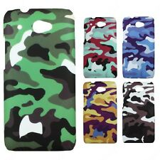 Heartly Army & Strip Style Retro Matte Thin Hard Back Case Cover HTC Desire 601