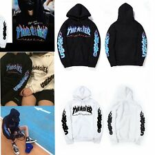 2017 Mens Thrasher Flame Blaze Skater Hoodie Sweats Hip Hop Coat Love Sweatshirt