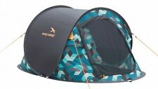 Easy Camp Antic 2 Person Instant Pop Up Festival Tent - Blue Graphic RRP £59.99